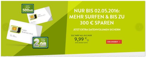 o2 Blue Tarife via BASE: All in Wochen ab 9,99 € im Monat für eine Allnet-Flat