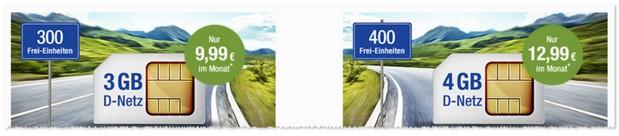 GMX Allnet & Surf Tarif mit 3GB oder 4GB
