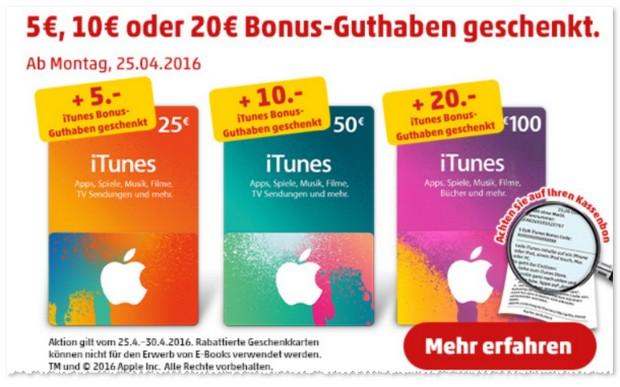 iTunes Bonus-Guthaben bei PENNY ab 25.4.2016 geschenkt