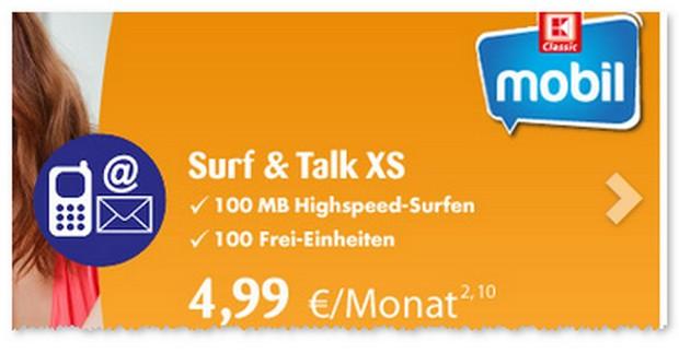 Kaufland Handytarif K-Classic Mobil Surf & Talk XS