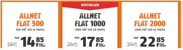 Klarmobil Allnet-Flat 500 im D-Netz