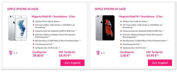 Telekom Magenta Mobil M Vertrag für 54,95 € pro Monat