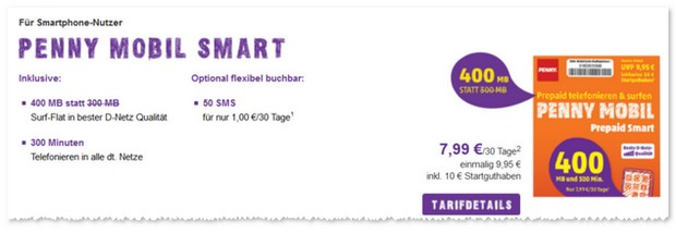 PENNY Handytarif mobil Smart