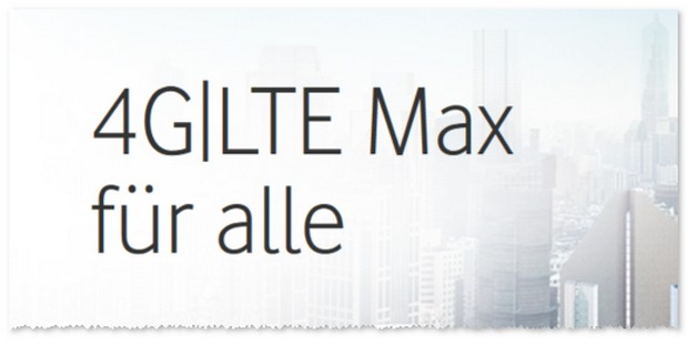 Vodafone LTE Max Abdeckung