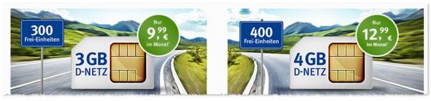 WEB.DE Allnet and Surf Verträge mit 3 GB und 4 GB Internet-Flat