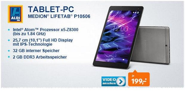 ALDI Süd Technik-Angebot ab 2.6.2016 mit Medion-Tablet