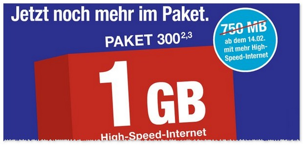 ALDI TALK Paket 300 mit 1GB Internet-Flat