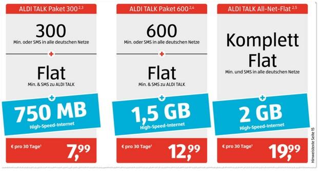 ALDI Talk Paket 300 bald mit 750 MB
