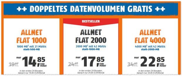Klarmobil D1 Allnet-Flat - doppeltes Datenvolumen gratis