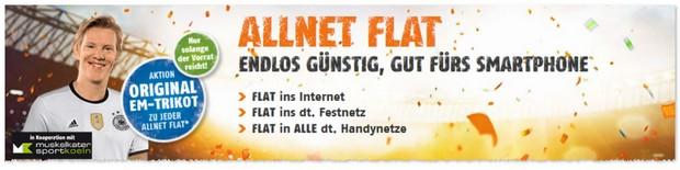 Klarmobil D1 Allnet-Flats mit EM Trikot