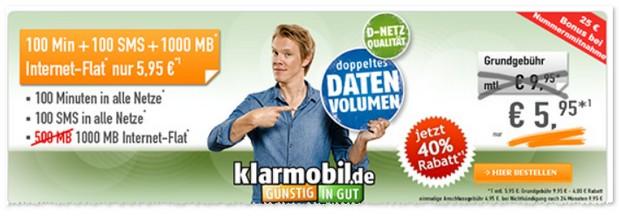 Klarmobil Smartphone Flat VF 1000