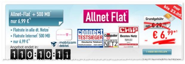 Comfort Allnet-Flat Angebot für 6,99 €
