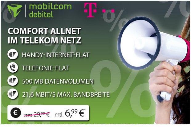 Telekom Comfort Allnet (SIM-only) für 6,99 Euro