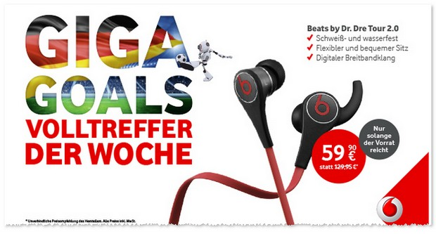 Vodafone Giga Goals Werbung - Volltreffer der Woche