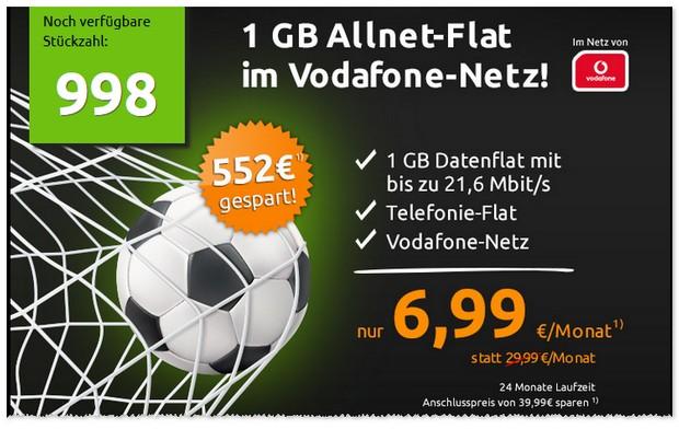 Crash-Tarife Juni 2016 mit mobilcom-debitel Allnet Flat im D2 / Vodafone Netz