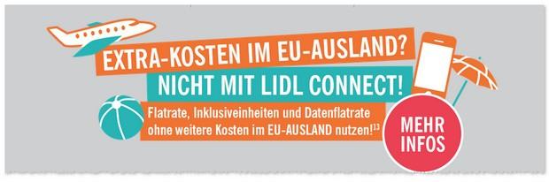 LIDL CONNECT Handytarif im EU Ausland