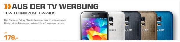 Saturn Angebot ab 20.6.2016 mit Samsung Galaxy S5 mini für 179 €
