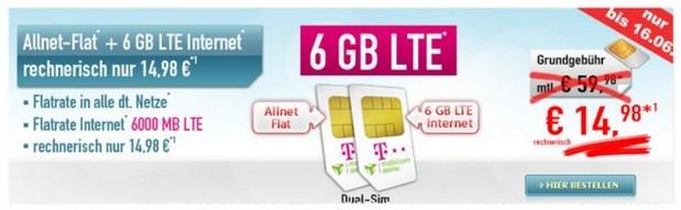 Telekom Comfort Allnet-Flat + 6 GB LTE-Flat als Duo Vertrag