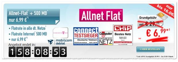 Telekom Comfort Allnet-Flat mit 500 MB Internet Flat für 6,99 € - D1-Netz