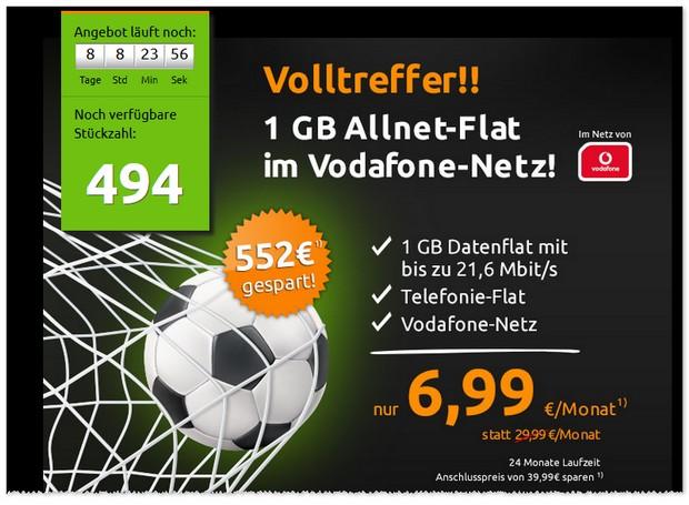Vodafone Flat Allnet Comfort von mobilcom-debitel