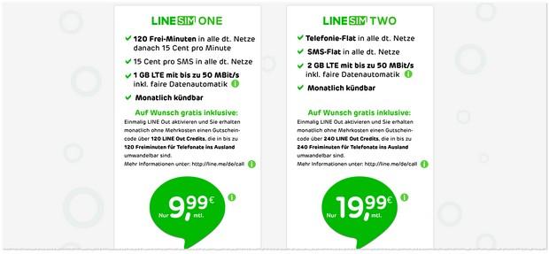 LINE-SIM Handytarife