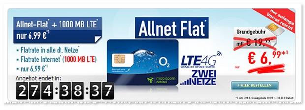 o2 Comfort Allnet-Flat mit monatlich 13 € Tarif-Rabatt