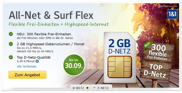 WEB.DE Allnet & Surf Flex Mobilfunktarif