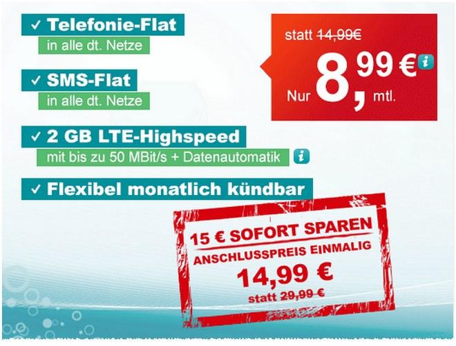 Der ComputerBILD helloMobil LTE M Tarif für 8,99 € mit Allnet-Flat, SMS-Flat und 2GB LTE kann monatlich gekündigt werden