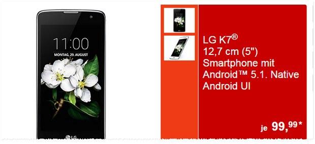 ALDI Süd Technik mit Handy-Angebot ab 29.8.2016 (Montag) LG K7 unter 100 €