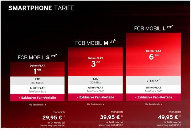FCB Mobil Handytarif des FC Bayern München