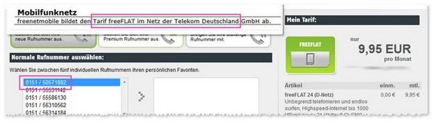 Freenet freeFlat 1000: Allnet-Flat im D1-Netz der Telekom
