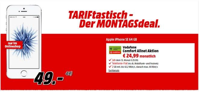 Media Markt TARIFtastische Montagsangebot ab 29.8.2016