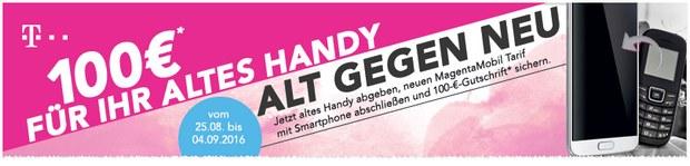 Telekom: 100 € Cashback-Aktion Alt gegen Neu