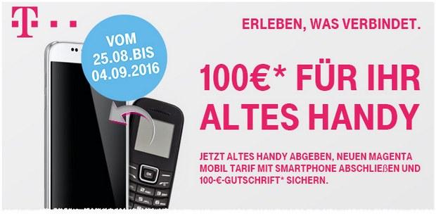 Telekom Alt-gegen-Neu-Aktion mit 100 € Cashback fürs Althandy