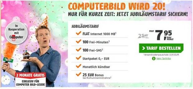 ComputerBILD Jubiläumstarif von Klarmobil