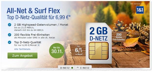 GMX Allnet & Surf Flex im November 2016