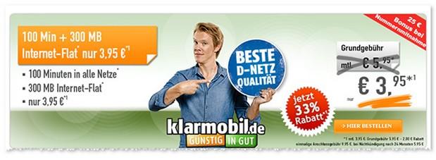 Klarmobil Smart Flat Angebot bei Handybude