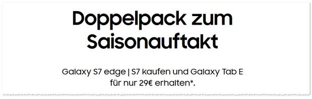 Samsung Cashback Aktion: Samsung Doppelpack
