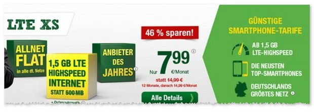 Heino-Handytarif ab 7,99 €