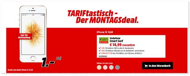 Media Markt TARIFtastisch Montagsdeal ab 24.10.2016