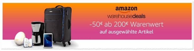 Amazon Warehouse-Deals Aktion