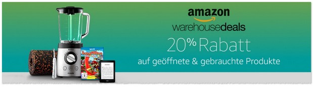 Amazon Warehouse-Deals Rabatt-Aktion