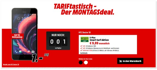 TARIFtastisch Deal ab 28.11.2016 bei Media Markt