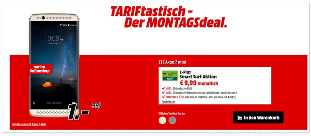 TARIFtastisch Deal bei Media Markt ab 5.12.2016