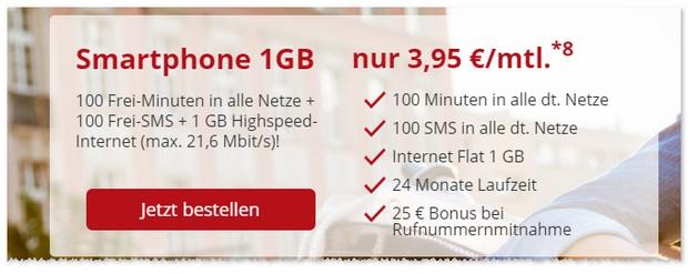 Klarmobil Smartphone Flat 1000 bei XLmobile günstig abschließen