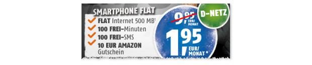 Klarmobil Smartphone 500 unter 2 Euro im Monat