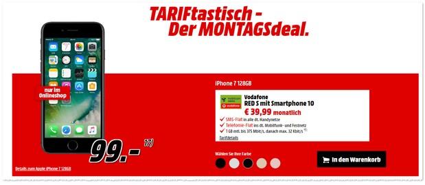 TARIFtastisch Montagsdeal bei Media Markt ab 27.12.2016 (Dienstag).