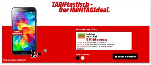 Media Markt TARIFtastisch MONTAGSdeal ab 19.12.2016