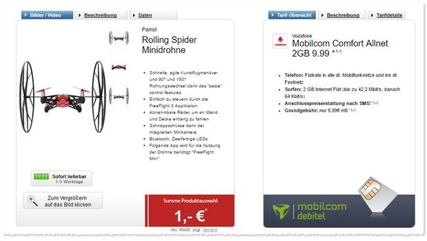 Vodafone comfort Allnet (md) Handyvertrag für rechnerisch 9,99 Euro im Monat