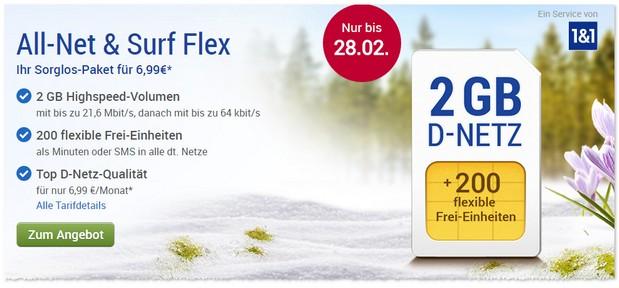 GMX Handytarif Flex im Februar 2017